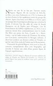 Le general bigarre (1775-1838) vingt-cinq annees de guerre sous la revolution et l'empire - 4ème de couverture - Format classique