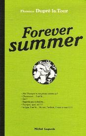 Forever summer - Couverture - Format classique