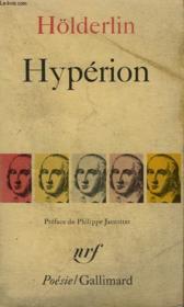 Hyperion Ou L'Ermite De Grece Precede Du Fragment Thalia. Collection : Poesie. - Couverture - Format classique