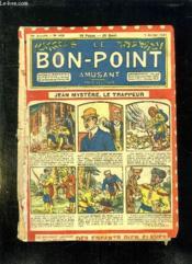 LE BON POINT N° 449 du 7 JUILLET 1921. JEAN MYSTERE LE TRAPPEUR. - Couverture - Format classique