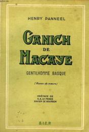 Ganich De Macaye, Gentilhomme Basque - Couverture - Format classique
