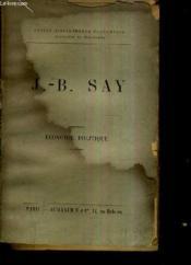 J.-B. Say Economie Politique. - Couverture - Format classique