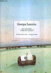 Georges Lemoine - Meconorma Graphic Center - 25 Novembre 1981-15 Janvier 1982. - Couverture - Format classique