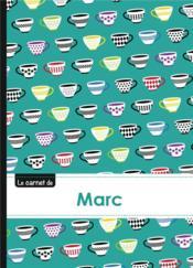 Carnet Marc Lignes,96p,A5 Coffeecups - Couverture - Format classique