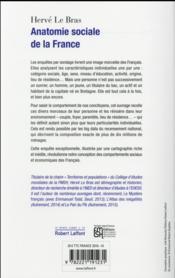 Anatomie sociale de la France - 4ème de couverture - Format classique