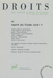 REVUE DROITS N.41 ; l'esprit du code civil t.1 (édition 2005) - Intérieur - Format classique