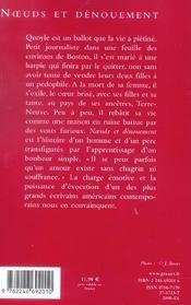 Noeuds Et Denouement - 4ème de couverture - Format classique