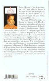 Marie Stuart - 4ème de couverture - Format classique