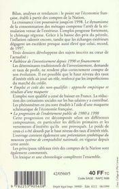 L'Economie Francaise - Edition 1999-2000 - 4ème de couverture - Format classique