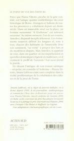 Choc des civilisations pour un ascenseur à Piazza Vittorio - 4ème de couverture - Format classique