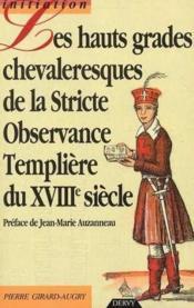 Hauts Grades Chevaleresques - Couverture - Format classique