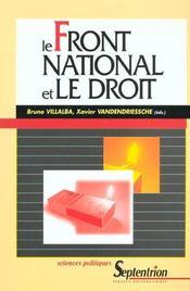 Le front national et le droit - Intérieur - Format classique