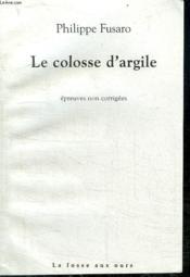 Le Colosse D'Argile - Couverture - Format classique