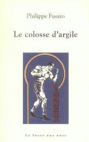 Le Colosse D'Argile - Intérieur - Format classique
