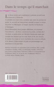 Dans Le Temps Qu'Il Marchait - 4ème de couverture - Format classique