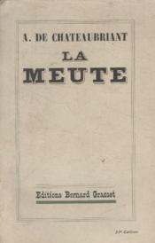 La Meute. - Couverture - Format classique