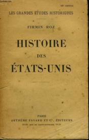 Histoire Des Etats Unis. - Couverture - Format classique
