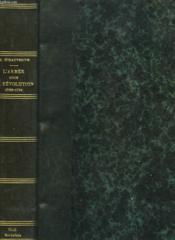 L'Armee Sous La Revolution 1789-1794 - Couverture - Format classique