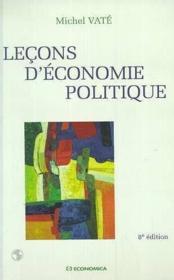 Lecons D'Economie Politique - Couverture - Format classique