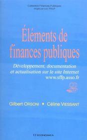 Éléments de finances publiques - Intérieur - Format classique