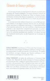 Éléments de finances publiques - 4ème de couverture - Format classique