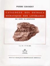 Catalogue des ostraca hiératiques non littéraires t.9 - Couverture - Format classique