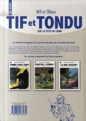 Tif et Tondu ; intégrale t.2 ; sur la piste du crime - 4ème de couverture - Format classique