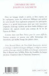 Humble dieu Joseph de Nazareth - 4ème de couverture - Format classique