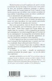 Enseignement De La Tranquilite (L') - 4ème de couverture - Format classique