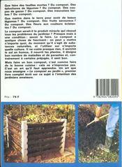 Le Compost Au Jardin (2e Edition) - 4ème de couverture - Format classique