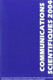Communications scientifiques mapar 2004 - Intérieur - Format classique