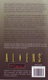 Aliens T.2 ; Guerre Genetique - 4ème de couverture - Format classique