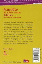 Poucette ; et autres contes - 4ème de couverture - Format classique