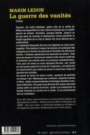 La guerre des vanités - 4ème de couverture - Format classique