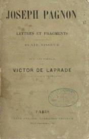 Joseph pagnon. lettres et fragments, receuillis par clair tisseurs - Couverture - Format classique