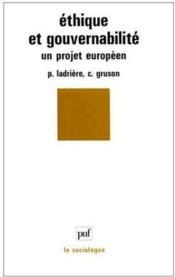 Éthique et gouvernabilité ; un projet européen - Couverture - Format classique