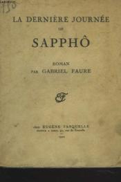 La Derniere Journee De Sappho - Couverture - Format classique