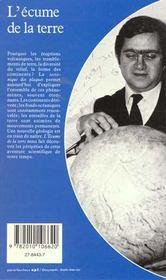L'Ecume De La Terre - 4ème de couverture - Format classique