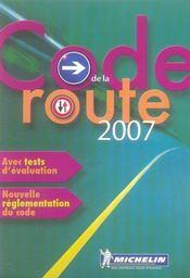 Code de la route 2007 - Intérieur - Format classique