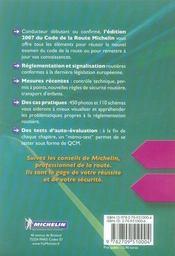 Code de la route 2007 - 4ème de couverture - Format classique