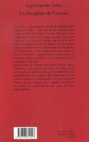 La Discipline De L'Amour - 4ème de couverture - Format classique