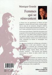 Femmes qui se réinventent - 4ème de couverture - Format classique