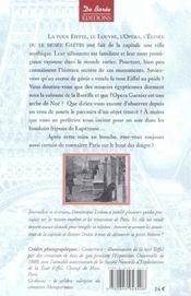 Paris mysterieux et insolite t1 - 4ème de couverture - Format classique
