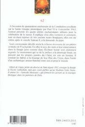 Les prieres eucharistiques - 4ème de couverture - Format classique