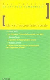 Marx Et L'Appropriation Sociale - Intérieur - Format classique