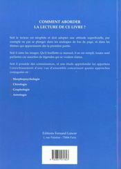 Morphopsychologie Chirologie Graphologie Astrologie 4 Approches Conjuguees - 4ème de couverture - Format classique