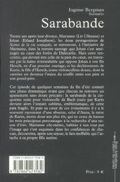 Sarabande - 4ème de couverture - Format classique