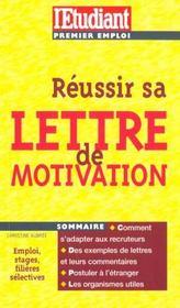 Reussir sa lettre de motivation edition 2000 - Intérieur - Format classique