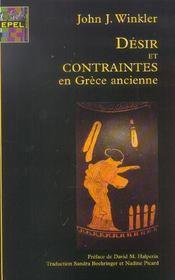 Desir et contraintes en grece ancienne - Intérieur - Format classique