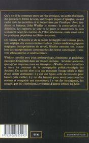 Desir et contraintes en grece ancienne - 4ème de couverture - Format classique